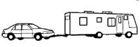 Motorhome With Dinghy